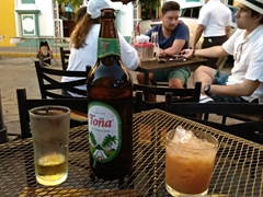 Toña beer and macuá (the national drink of Nicaragua) - our favorite drinks in Granada!