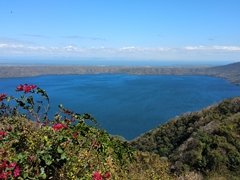 Crater lake of Apoya Lagoon, formed 23000 years ago