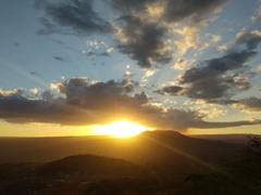 Sunset over Masaya volcano
