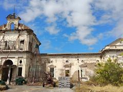 Abandoned hospital ruins; Granada