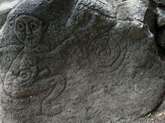 Monkey petroglyph