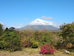 View of Concepción volcano from our front porch; Santa Cruz Hostel