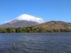 Concepcion volcano as seen from Charco Verde lagoon