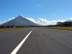 Airport landing strip at the base of Concepcion volcano - how cool is that!?