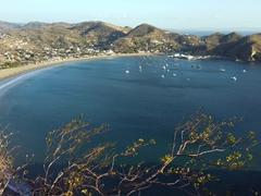 View of pretty San Juan del Sur from the Mirador del Cristo de la Misericordia