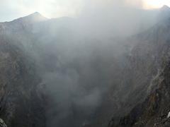 Panorama of Telica volcano