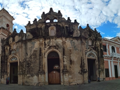 Iglesia La Merced was originally built in 1534 but razed by pirates. This version, complete with a baroque facade, was built in 1783