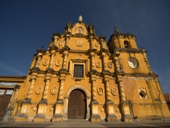 Majestic facade of the Church of the Recollection; Leon
