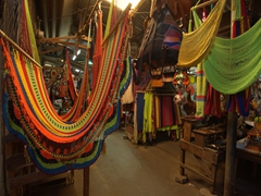 Colorful hammocks; Masaya market