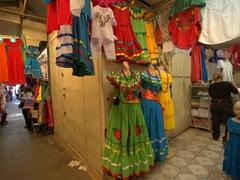 Traditional folk dresses; Masaya market