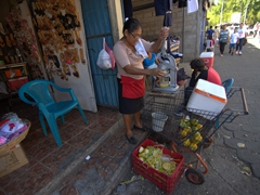 Fresh squeezed orange juice; Masaya market