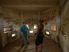 Wilfred giving us a tour of the prison and torture section of El Coyotepe fortress