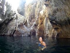 Enjoying the swim through Somoto Canyon