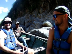 Robby, Alex and our boatman; Somoto Canyon