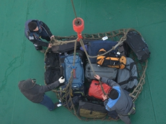 How our luggage made it on board the Akademik Ioffe