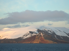 Early morning view of Deception Island