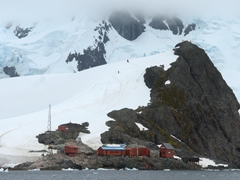 Brown Station, an Argentinean base camp at Paradise Harbour
