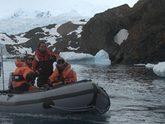 Argentines returning to their base camp; Cierva Cove