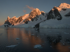 We couldn't believe the amazing weather conditions on our Antarctica trip - gorgeous sunrises and sunsets!