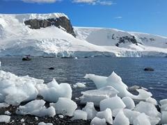 Icebergs at D'Hainaut Island's Mikkelsen Harbor