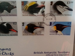 Penguin stamps; Port Lockroy