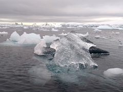 Fantastic iceberg formation at Fournier Bay