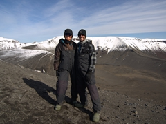 At the top of Goddard Hill; Deception Island