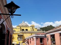 Colorful view of La Merced Church; Antigua