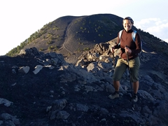 From base camp, it is a tough 90 minute struggle to the summit of Acatenango Volcano