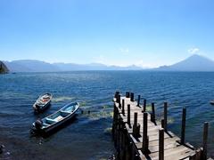 Wooden pier; Lake Atitlan