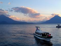 Our last sunset at pretty Lake Atitlan