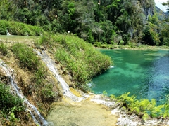 Gorgeous turquoise hues of Semuc Champey