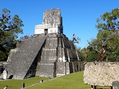 Temple II - the temple of the masks; Tikal