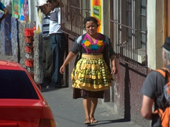 A local dressed her best for the Sunday market; Panajachel