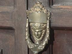 Brass door knocker