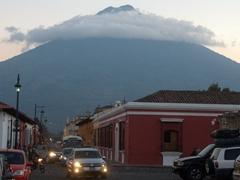 Volcán de Agua looms over the city of Antigua