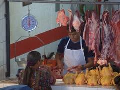 Meat vendor; Panajachel market