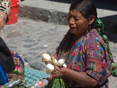 Onion seller; Panajachel market