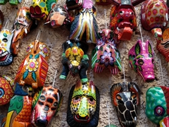 Masks for sale; Nim Pot souvenir depot