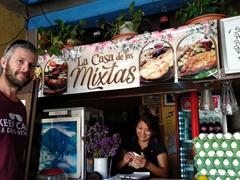 Enjoying a cheap lunch at La Casa de la Mixtas; Antigua