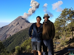 We reluctantly say goodbye to Volcán de Fuego after breakfast