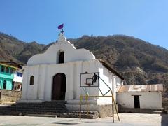 Santa Cruz church; Lake Atitlan