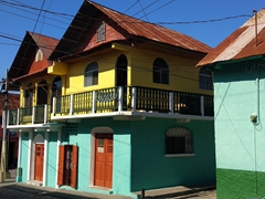 Colorful houses; Flores