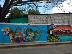 Painted wall murals; Flores