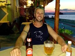 Enjoying our last night in Guatemala