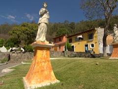 Statues at the base of the hike up to Cerro de la Cruz; Antigua
