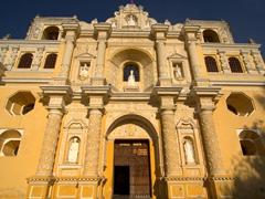 Facade of the Baroque church of La Merced; Antigua