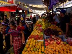 Fruit section; Panajachel market
