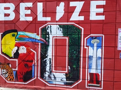 Wall mural in Belize City