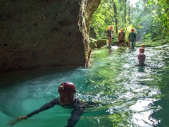Entering the Actun Tunichil Muknal (ATM) cave. ATM photos were taken before May 2012 when all cameras were banned due to several mishaps